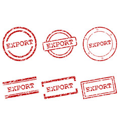 export stamps vector image vector image