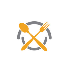 fork plate spoon icon vector image vector image