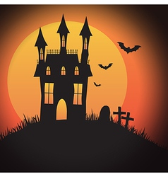 Halloween Spooky House vector image vector image
