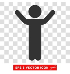 Hands up child eps icon vector