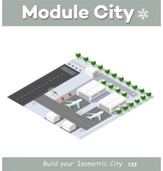 Isometric 3d airstrip vector
