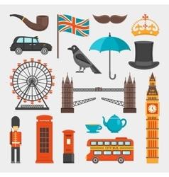 London Icon Set vector image vector image