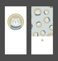 Merry christmas greeting card set vector