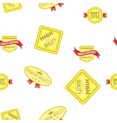 Quality labels pattern cartoon style vector image