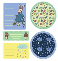 Rain sticker set vector image
