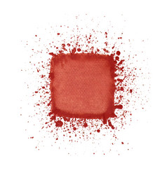red watercolor square vector image