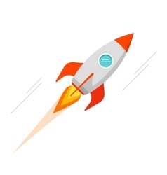 Rocket spaceship icon isolated vector