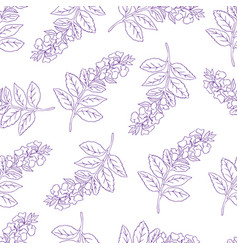 seamless pattern with violet con vector image vector image