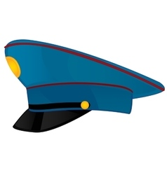 Service cap police on white background vector image vector image