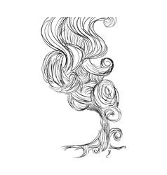Smoke icon Sketch design graphic vector image