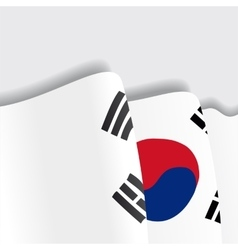 South Korean waving Flag vector image