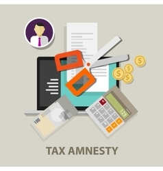 Tax amnesty scissor government vector