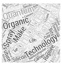 Technologies of tomorrow word cloud concept vector