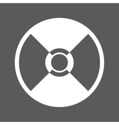 white cd icon vector image