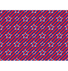 stars and stripes pattern vector image