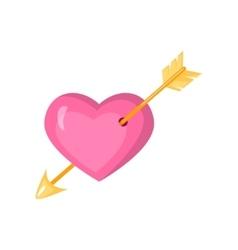 Valentine s day stylish icons set Cartoon style vector image