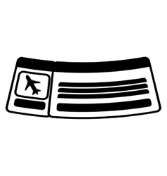 Ticket airplane travel line vector