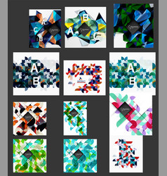 mega collection of low poly triangle mosaic vector image