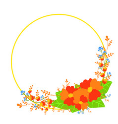 Flowers set beautiful wreath design for vector