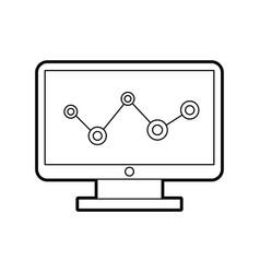 Computer desktop with statistics vector
