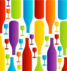 Background with colorful bottles vector