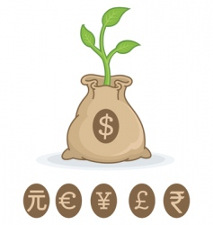 financial growth symbol vector image