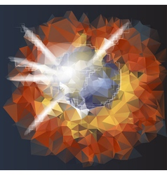 Abstract explosion planet vector