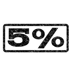 5 percent watermark stamp vector image