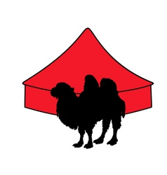 Bactrian camel in circus vector