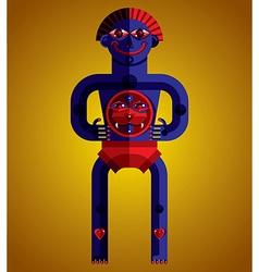 Pagan symbol spiritual cult theme modernis vector