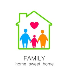 Family sweet home vector