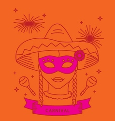 Carnival costume outfit vector