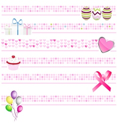 Pink banners vector