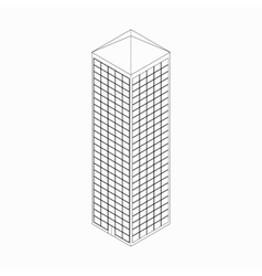 Skyscraper icon isometric 3d style vector
