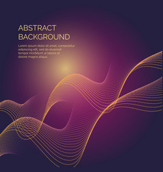 abstract background with a dynamic waves and vector image vector image