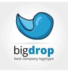Abstract drop logotype concept isolated on white vector image vector image