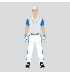 Baseball player uniform vector