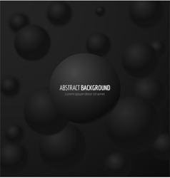 Black realistic sphere vector image vector image
