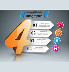 Business four infographics origami style vector