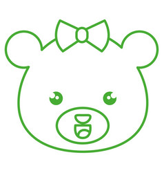 Cute and tender female bear kawaii style vector