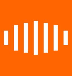Digital signal white icon vector