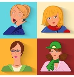 Flat design people avatars vector image vector image