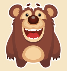 Happy bear vector