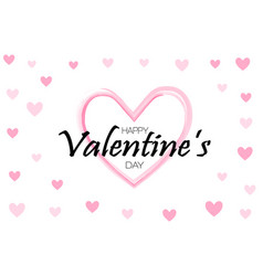 Happy valentines day background holiday white vector