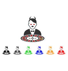 Hitler devil roulette croupier icon vector