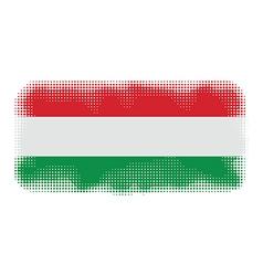 hungary flag halftone vector image