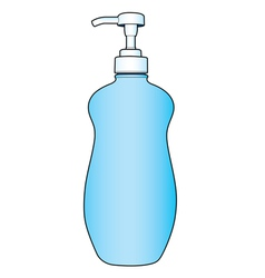 Lotion or cream pump bottle vector