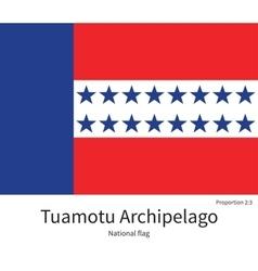 National flag of tuamotu archipelago with correct vector