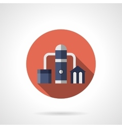 Oil distillation red round icon vector
