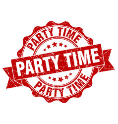 Party time stamp sign seal vector